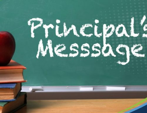 Principal's Message – Looking Towards Getting Back in School Safely for 2021-22